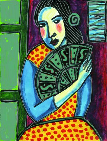 Uno de los dibujos realizados por Sabina e incluído en 'Garagatos'.
