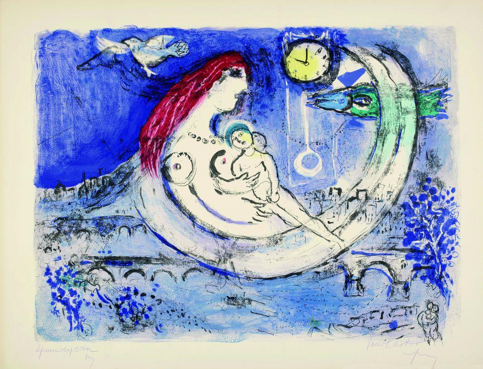 'Paisaje azul', 1958. © VEGAP, Madrid, 2016 - Chagall®