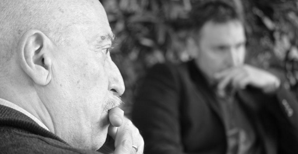 Andreu Martín y Carlos Zanón durante la entrevista.