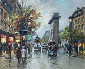Escena parisina, por Antoine Blanchard