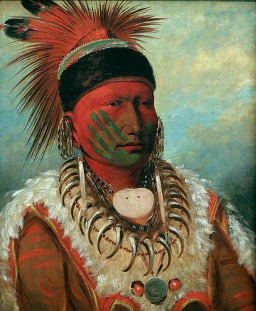 Jefe de los indios iowa (1841845), de George Catlin.