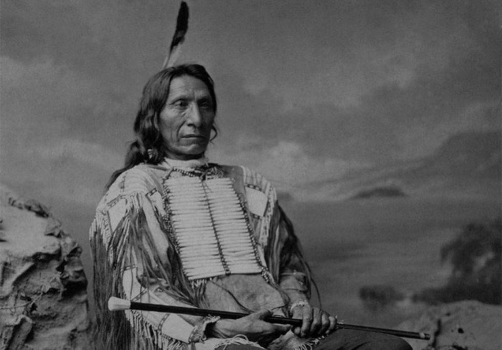 El jefe sioux Nube Roja.