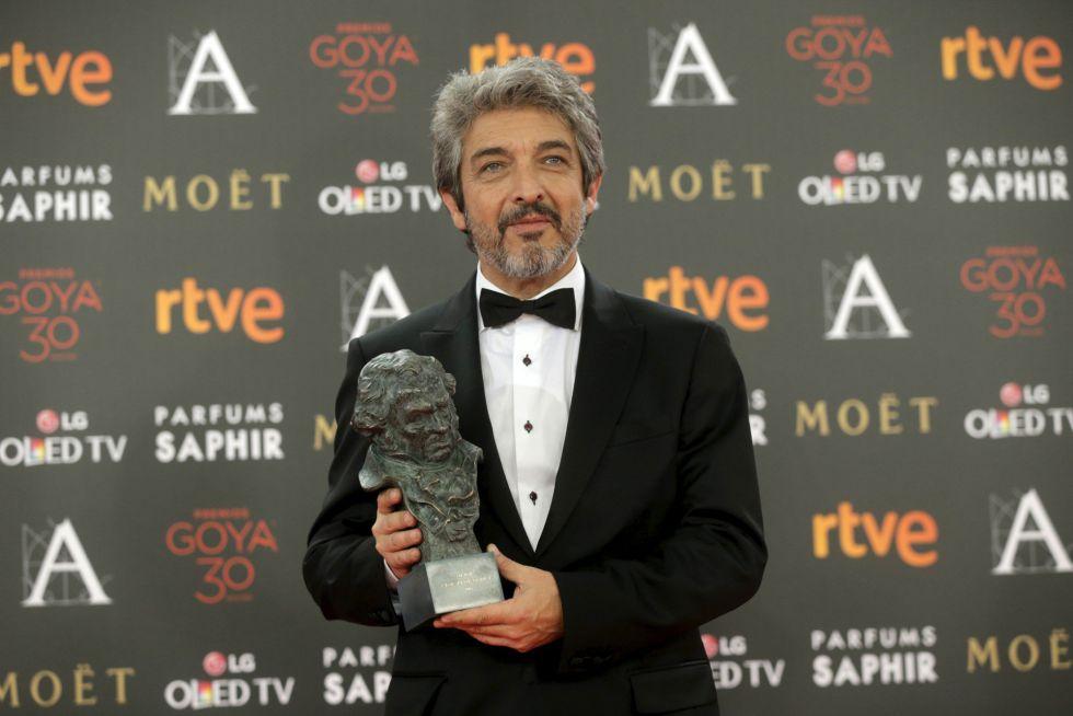 Ricardo Darín, con su Goya a mejor actor protagonista.