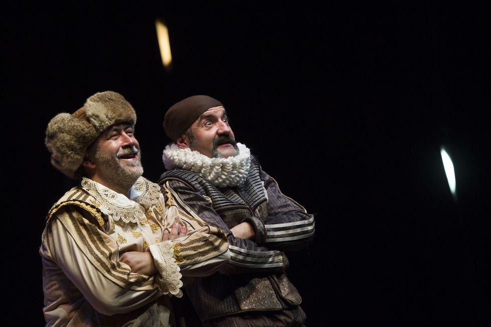 De izquierda a derecha, Santiago Molero y Rulo Pardo en 'Rinconete y Cortadillo', de Alberto Conejero.