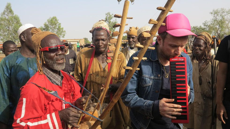 Damon Albarn, cantante de Blur, durante el reciente Festival Acoustik de Bamako.