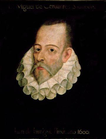 Retrato de Cervantes realizado por Juan de Jáuregui.