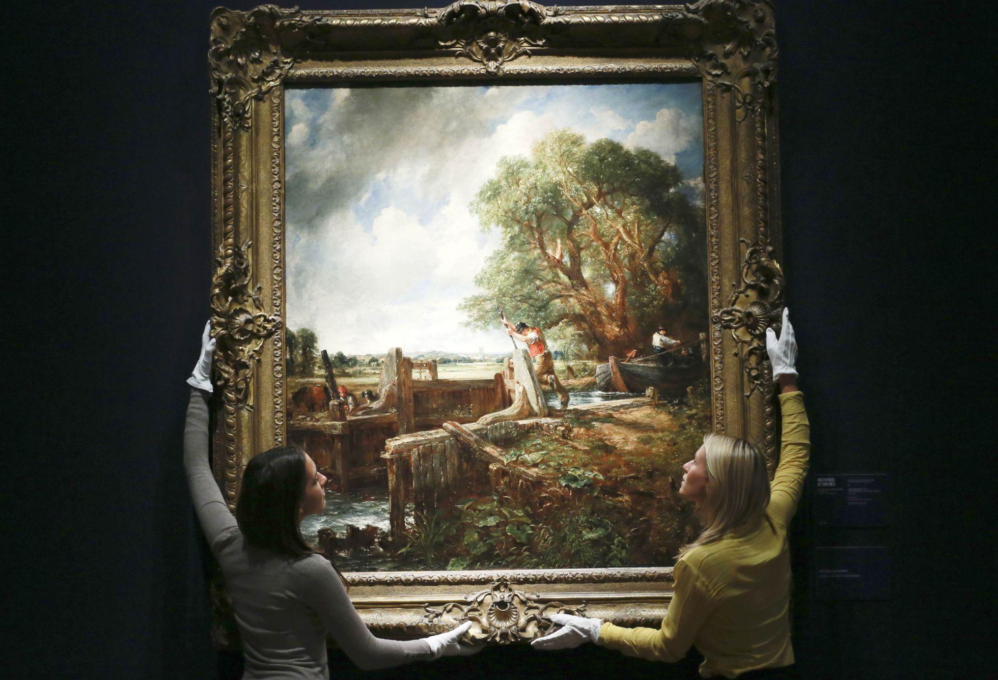 La esclusa', de Constable, antes de ser vendida en Christie's de Londres en 2012.  Reuters