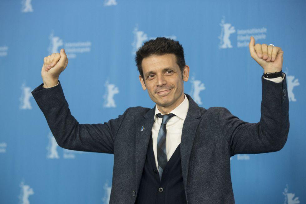 El director Daniel Burman, en la presentación en Berlín de 'El rey del Once', el viernes 12.