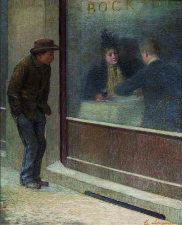Reflexiones de un hambriento, una obra de 1894 de Emilio Longoni.