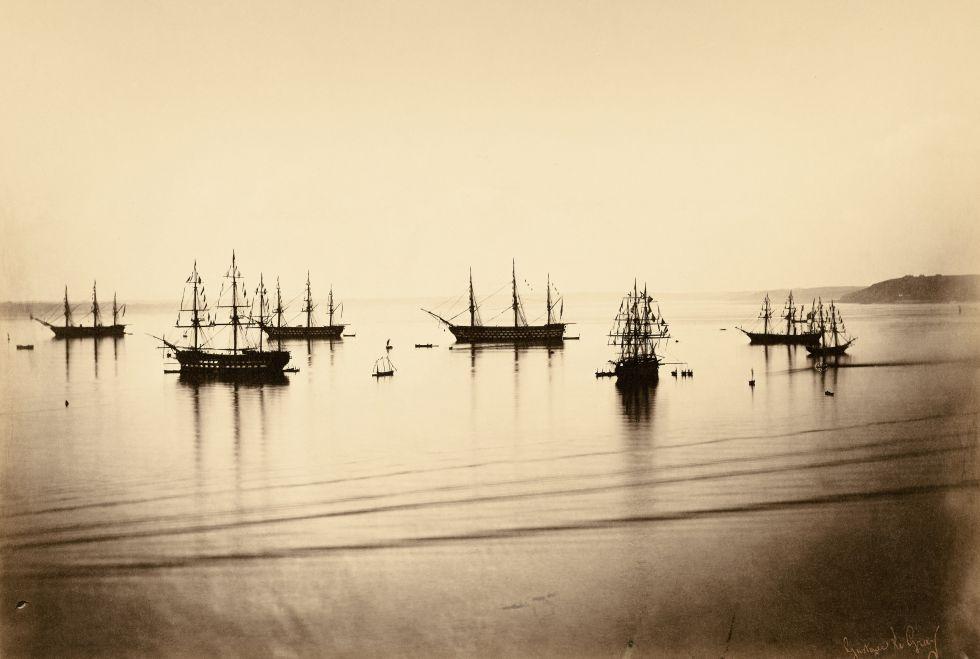 'Flotte française en rade de Cherbourg', 5 de agosto de 1858.