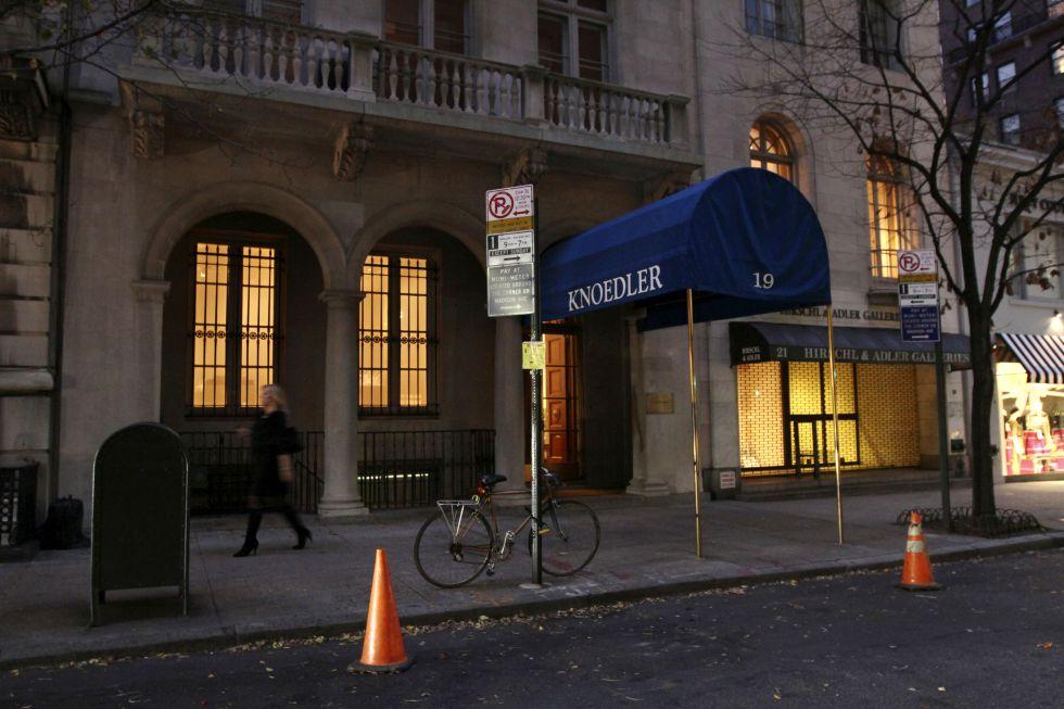 Exterior de la galería Knoedler, de Nueva York.