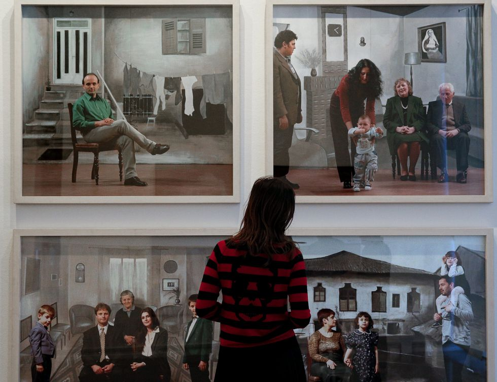 Una perspectiva de la exposición.