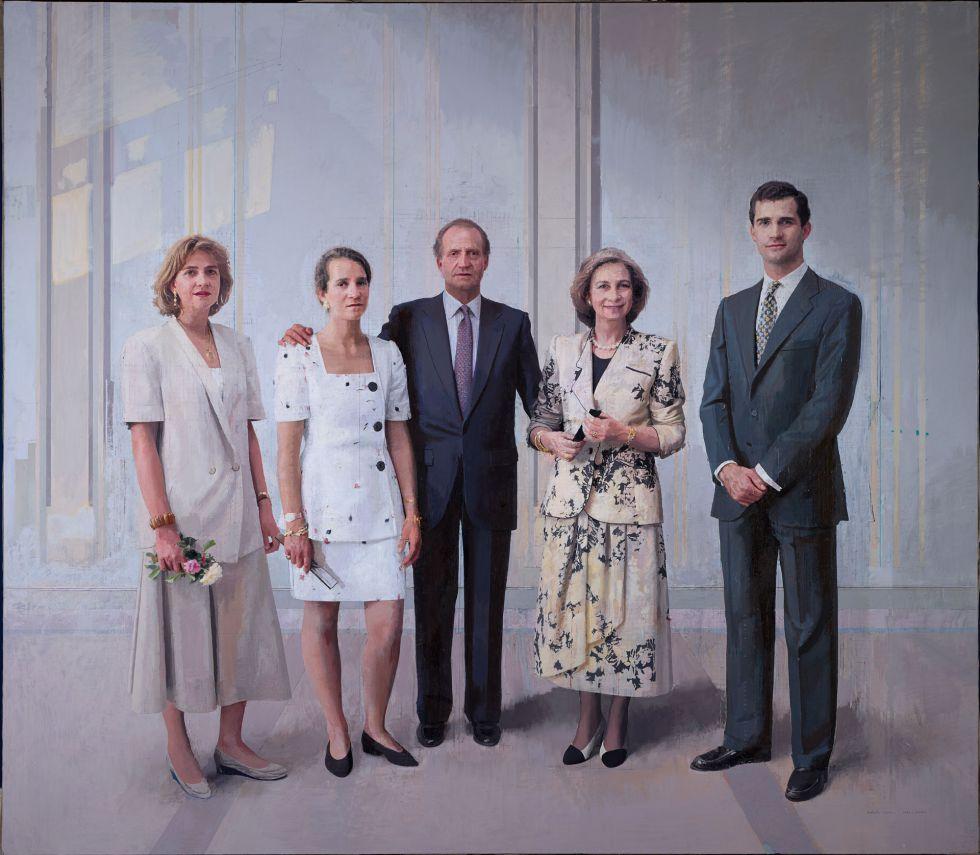 El cuadro 'La familia de Juan Carlos I', de Antonio López