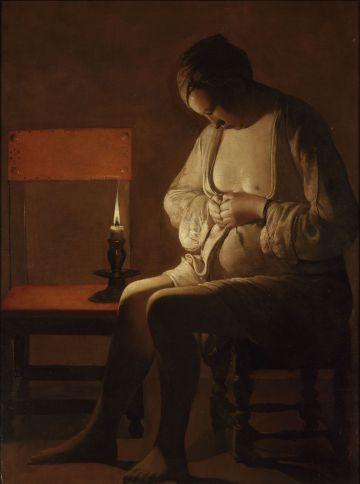 Mujer espulgándose', de Georges de La Tour.
