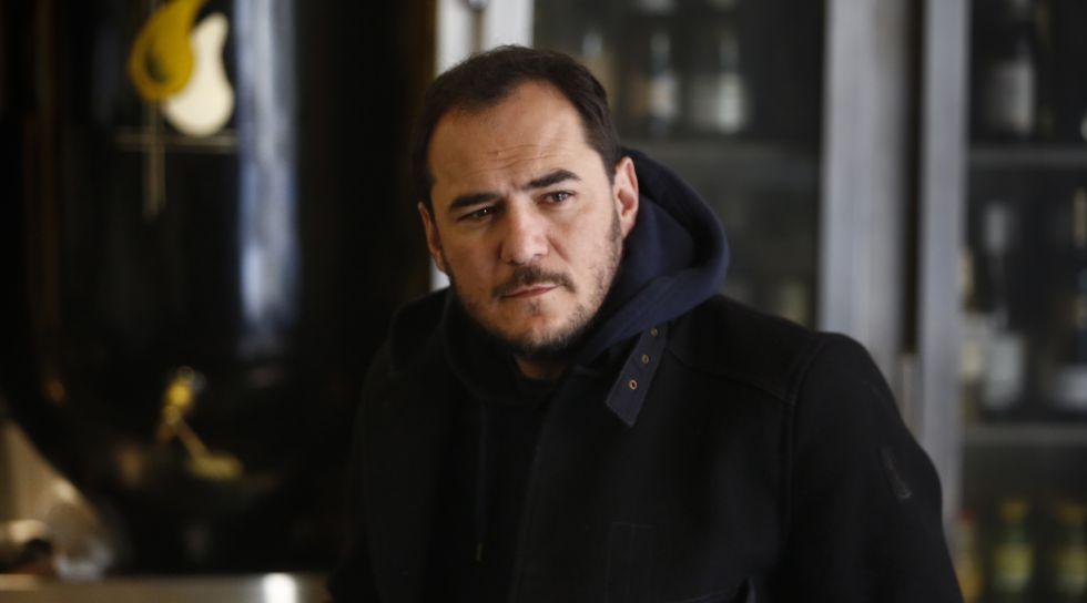 Ismael Serrano durante la entrevista.