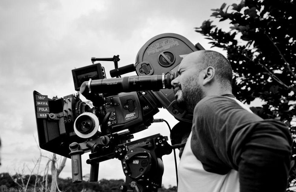 Ciro Guerra, en el rodaje de 'El abrazo de la serpiente'.