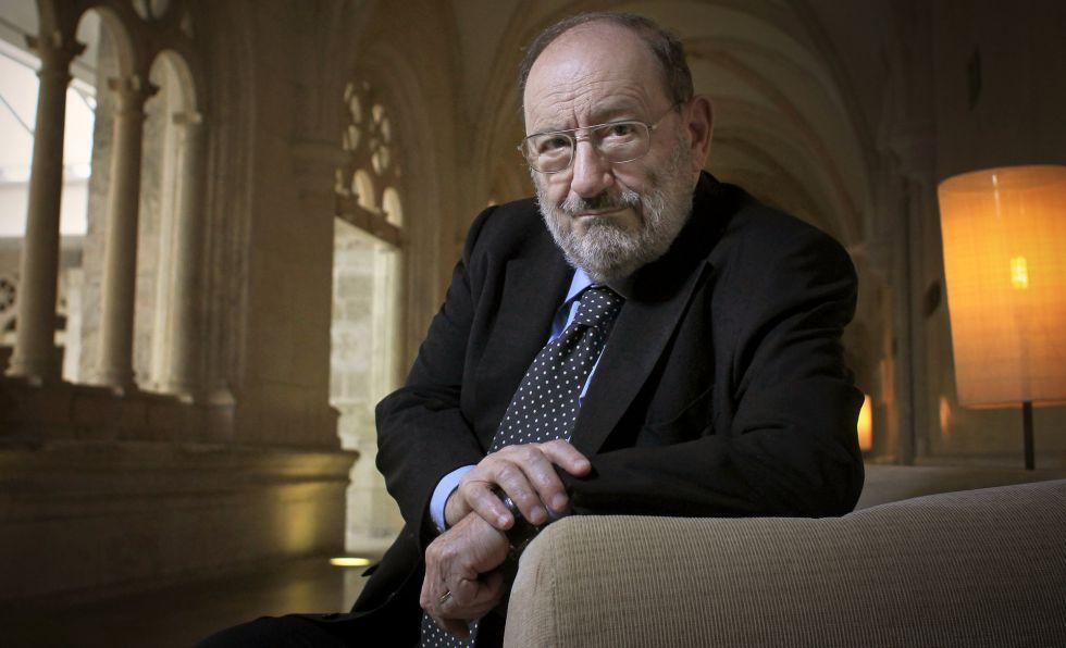 Umberto Eco, en la Universidad de Burgos, en 2013.