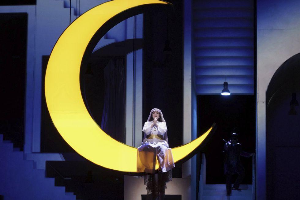 La soprano María Miró (Mariana) en la obra 'La prohibición de amar' de Richard Wagner, con la dirección musical de Ivor Bolton y la dirección de escena de Kasper Holten.