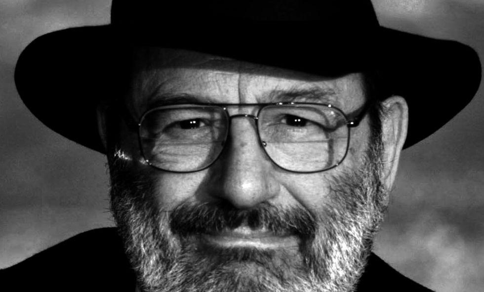 Retrato de Umberto Eco.