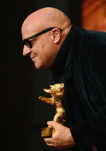 Gianfranco Rossi, con su Oso de Oro.