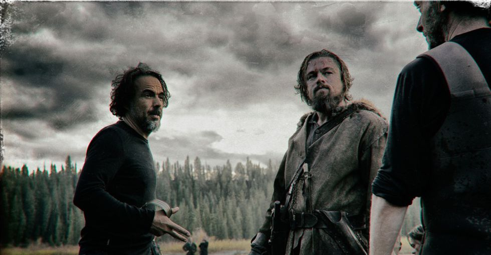 Emmanuel Lubezki junto a Iñárritu y DiCaprio.