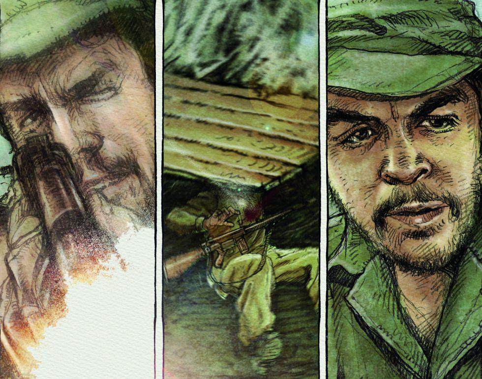 Una serie de viñetas de la novela gráfica 'Che. Una vida revolucionaria'.