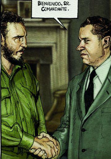 Encuentro entre Fidel Castro y Richard Nixon.