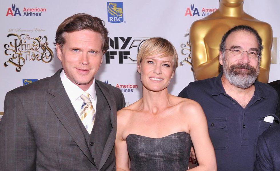 Cary Elwes, Robin Wright y Mandy Patinkin, en el 25º aniversario del estreno de 'La princesa prometida'.