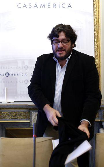 El ministro de Cultura de Argentina, Pablo Avelluto, hoy en la Casa de América.