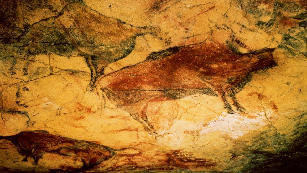 Bisontes en la sala de policromos de Altamira.