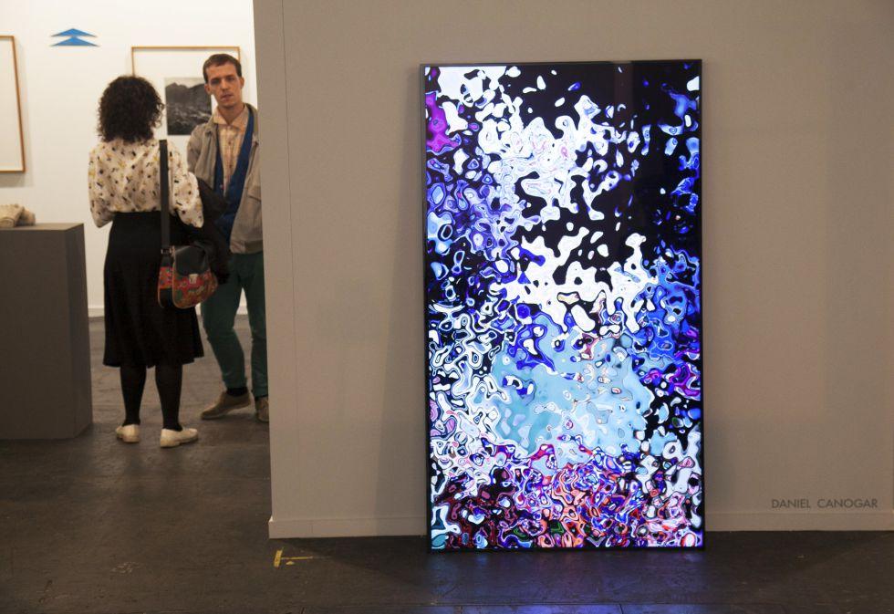 Obra de Daniel Canogar en la Galería Max Estrella.