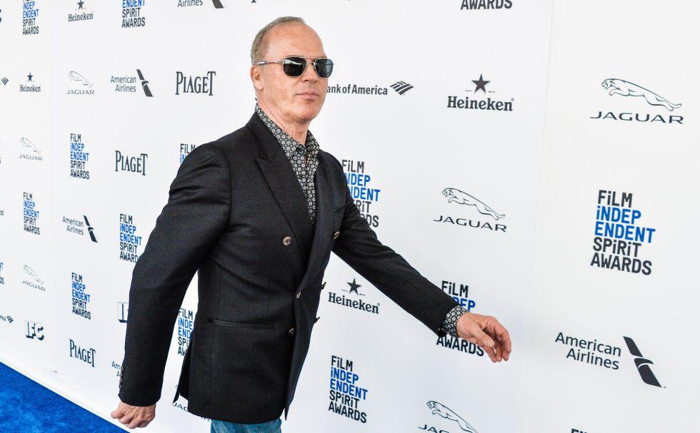El protagonista de 'Spotlight' Michael Keaton, a su llegada a los premios.