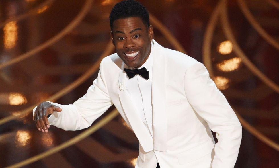 El presentador de los Oscar Chris Rock durante la ceremonia
