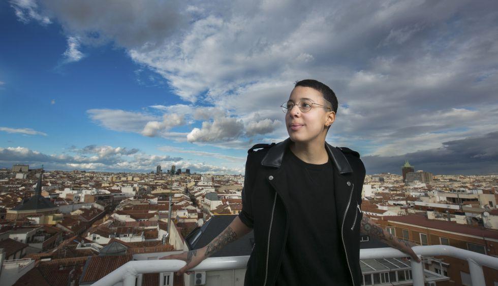 Nora Norman en la terraza de la Cadena SER en Madrid.