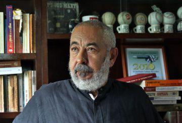 Leonardo Padura, hoy en su casa de La Habana.