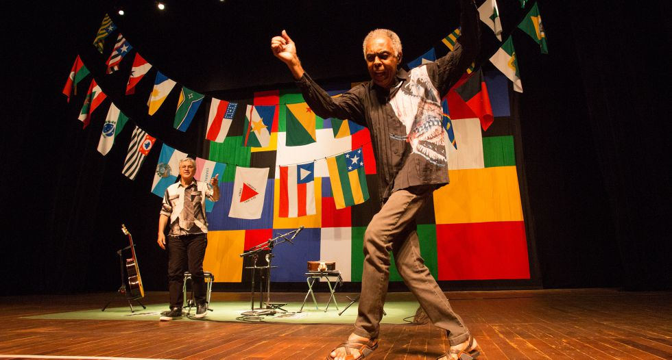 Caetano Veloso y Gilberto Gil en el concierto que ofrecieron en Brasil.