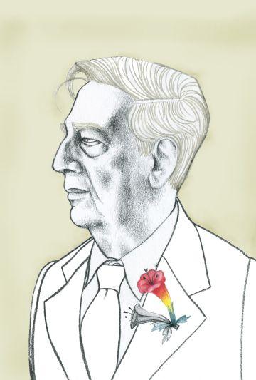 Vargas Llosa visto por Ana Juan.