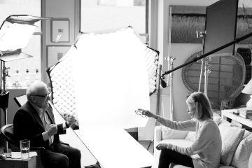 Martin Scorsese y Joan Didion, durante la grabación del documental.