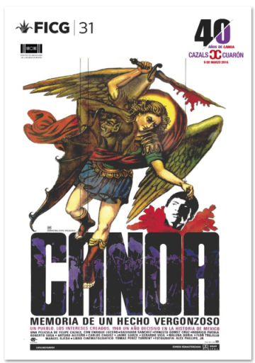 Afiche de 'Canoa'.