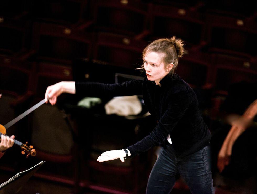 La directora de orquesta lituana Mirga Grazinyte-Tyla.