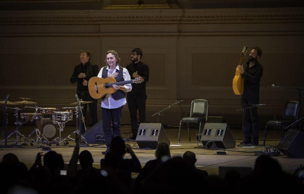 Vicente Amigo al acabar su concierto en el Carnegie Hall.