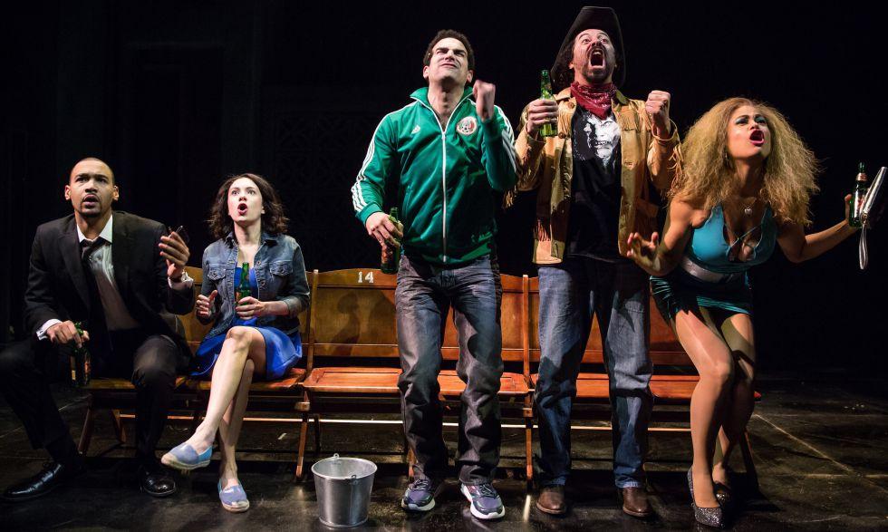 Eric Lynch, Alejandra Escalante, Demetrios Troy, Juan Francisco Villa y Yadira Correa en el montaje de '2666', adaptada por Robert Falls y Seth Bockley.