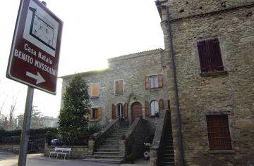 Casa natal de Benito Mussolini, en Predappio (Italia).