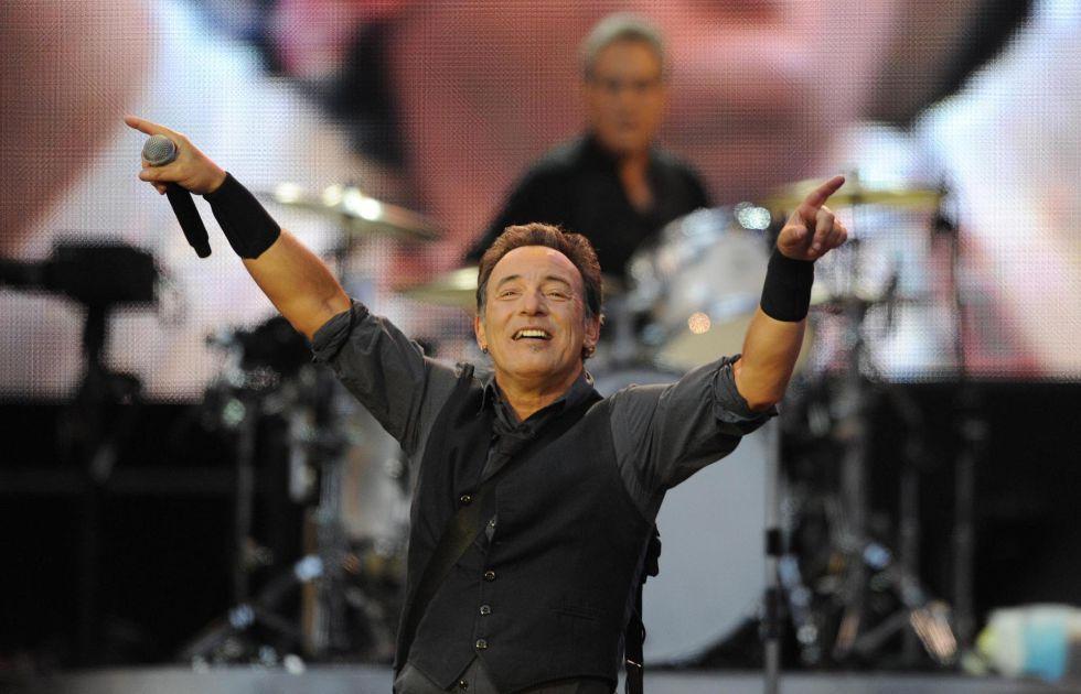 Springsteen, durante un concierto de 2013 en El Molinon.