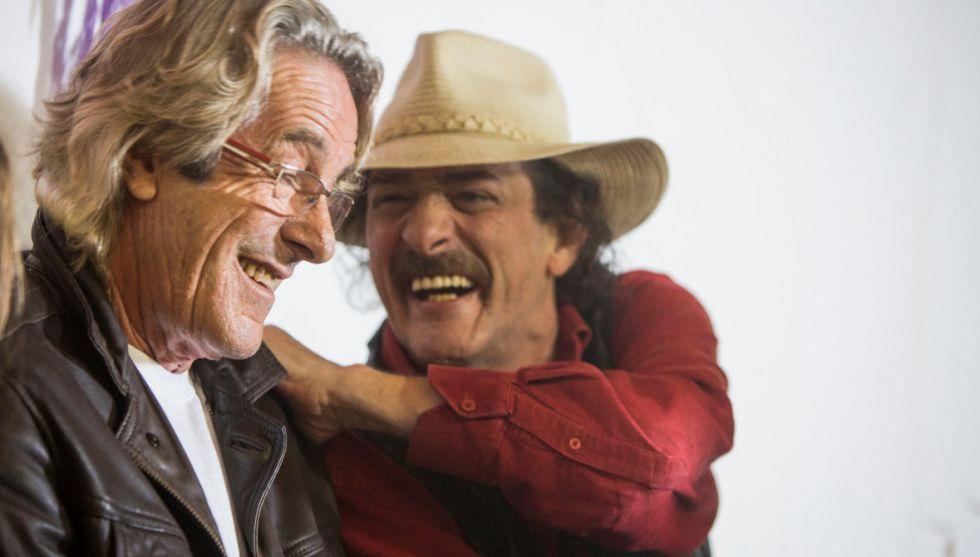 Eduardo Rodríguez  y Javier García-Pelayo, en un momento de la película.