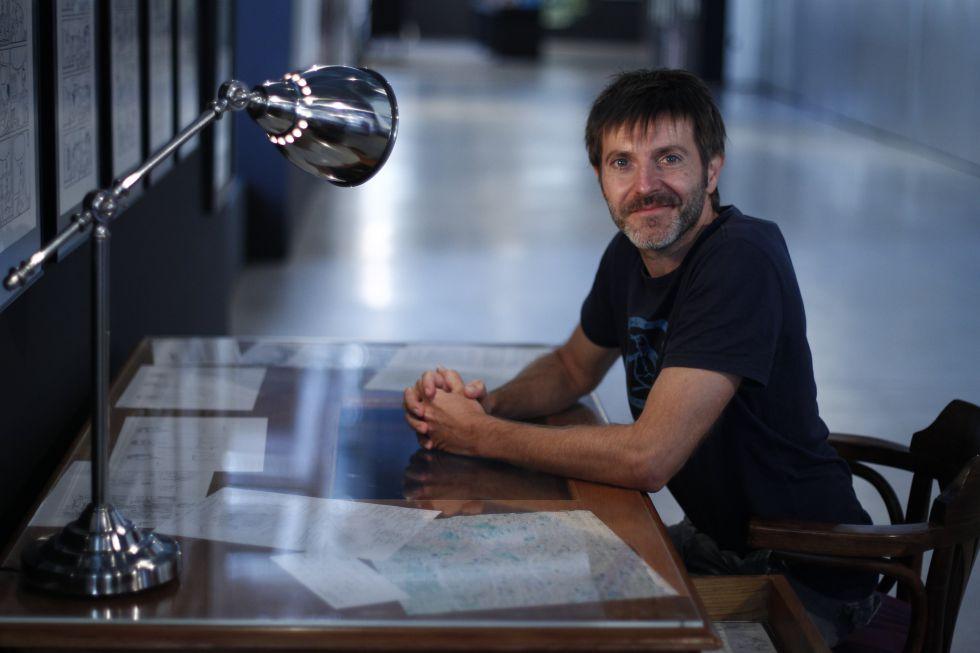 Paco Roca, en 2014 durante la presentación de su exposición en la Fundación Telefónica de Madrid.