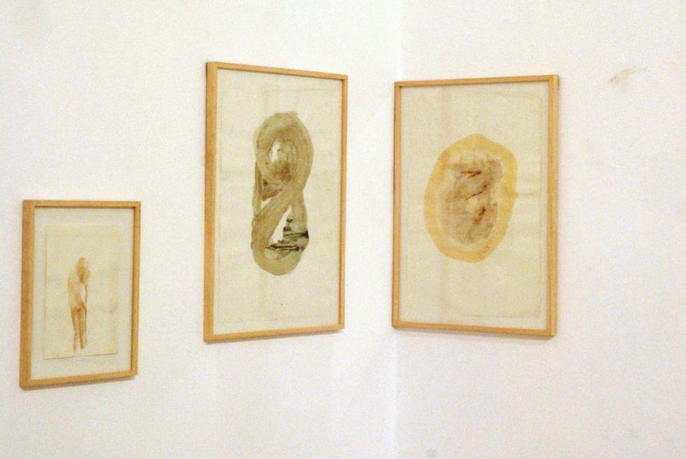 Acuarelas de la exposición 'Ya fuie mujer' de Tomás Espina.
