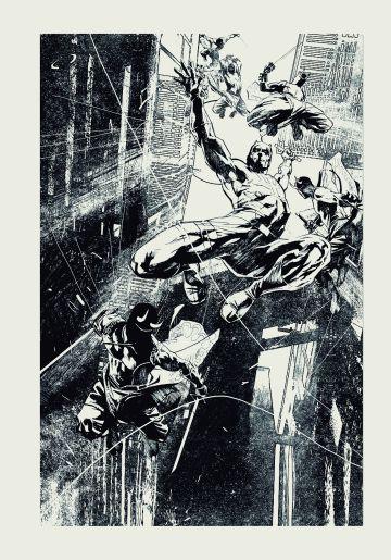 Roberto de la torre dibuja a Daredevil.