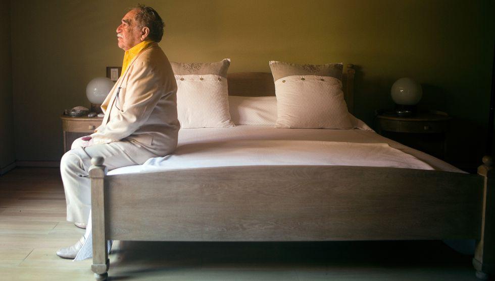 Gabriel García Márquez en su dormitorio en Cartagena de Indias (Colombia) en 2009.