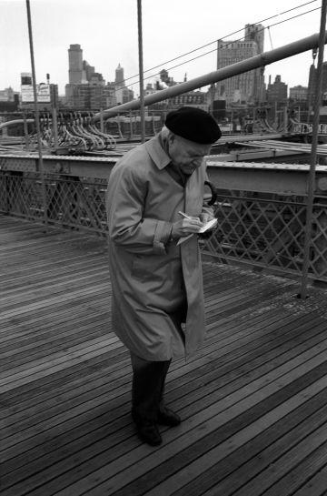 Giuseppe Ungaretti, en Nueva York.